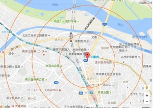 10秒で出来る営業ツール!、地図(Googleマップ)上に半径を距離ごとに表示できる方法|行政書士阿部総合事務所