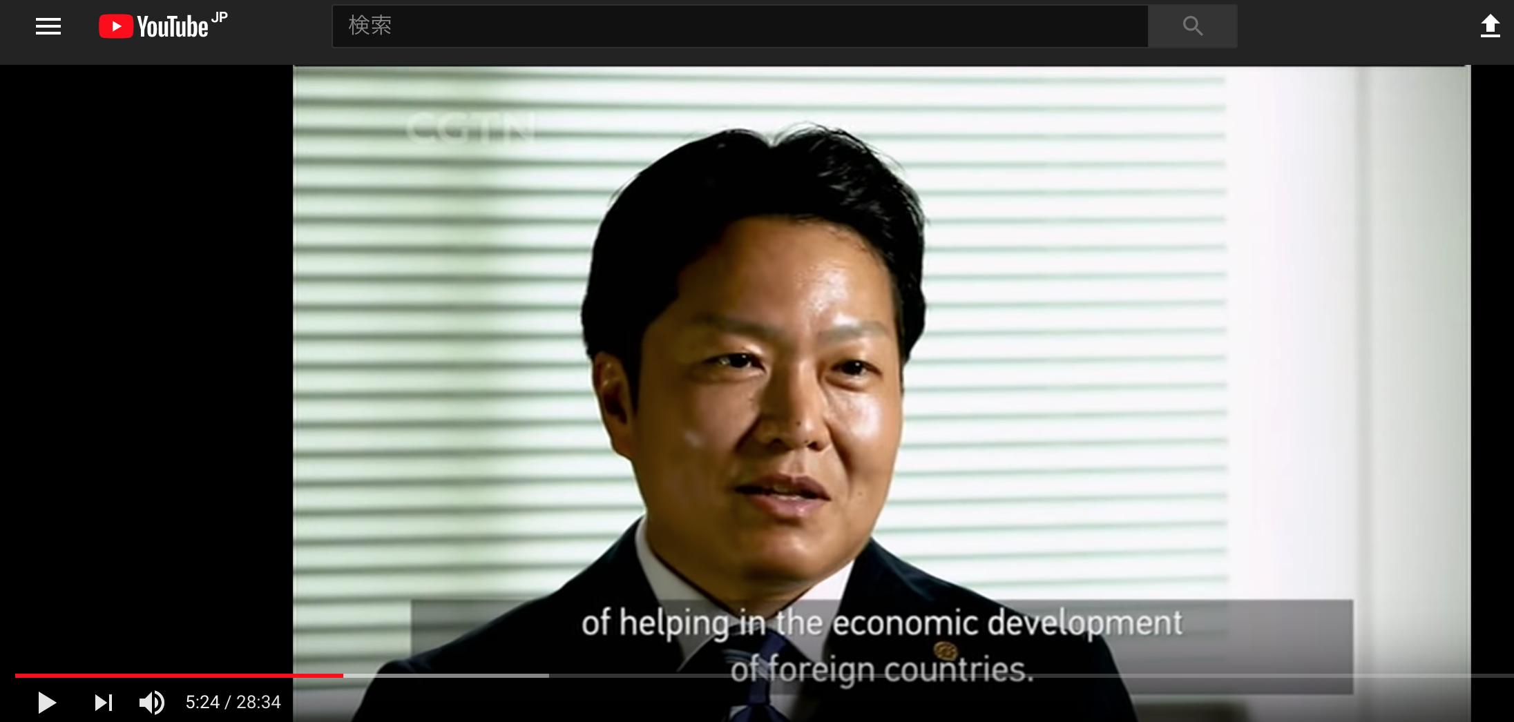 中国国営放送CGTNドキュメンタリーに行政書士阿部隆昭が出演しました!|行政書士阿部総合事務所